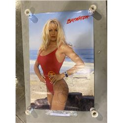 "PAMELA ANDERSON SIGNED ""BAYWATCH"" POSTER WITH CERTIFICATE OF AUTHENTICITY. GOOD CONDITION"