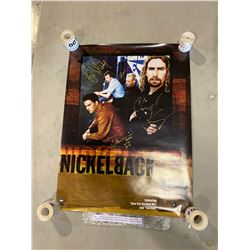 "NICKELBACK BAND SIGNED ""SILVERSIDE UP"" POSTER, SIGNED BY CHAD KROEGER AND THE BAND WITH CERTIFICATE"