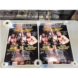 BOXING POSTERS (6) - INCLUDES 2 SIGNED TREVOR BERBICK & SHANE SUTCLIFFE POSTERS, AND UNSIGNED OSCAR