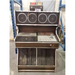 ANTIQUE 117V MORSE ELECTROPHONIC VINYL PLAYER SYSTEM