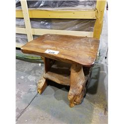LIVE EDGE WOODEN END TABLE