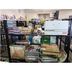 ASSORTED VINYLS, CDS, DVDS, & MORE