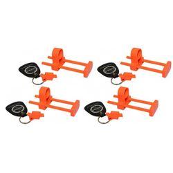 4 x ACU Econo Locks Orange