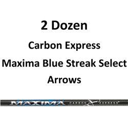 "2 Doz. Maxima Blue Streak Select Arrows with 2"" vanes"