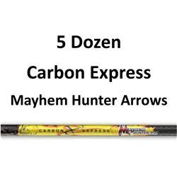"5 Doz. Mayhem Hunter Arrows with 2"" vanes"