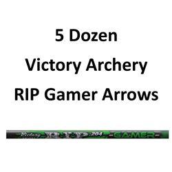"""7 Doz RIP 500 Gamer Arrows with 2"""" vanes"""