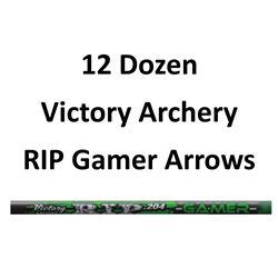 """12 Doz RIP 600 Gamer Arrows with 2"""" vanes"""