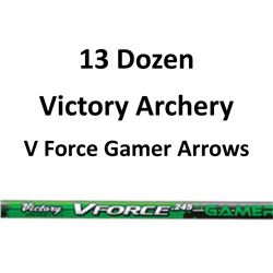 "13 Doz V Force 400 Gamer Arrows with 2"" vanes"