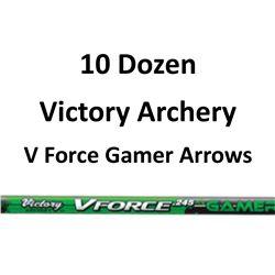 "10 Doz V Force 600 Gamer Arrows with 2"" vanes"