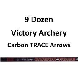 """9 Doz Carbon TRACE 400 Arrows with 2"""" vanes"""
