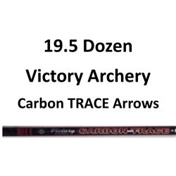 """19.5 Doz Carbon TRACE 500 Arrows with 2"""" vanes"""