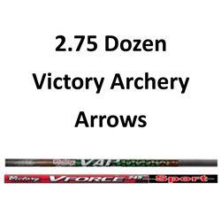 """2.75 Doz. Victory Archery Arrows with 2"""" vanes"""