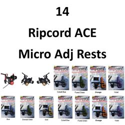 14 x Ripcord ACe Micro Adj & Code Red Rests