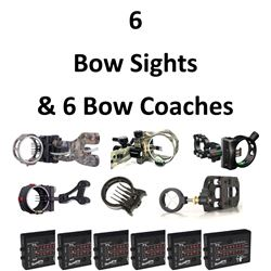 6 x Sights & 6 Bow Coaches