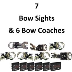 7 x Sights & 6 Bow Coaches