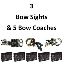 3 x Sights & 5 Bow Coaches