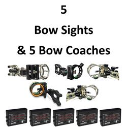 5 x Sights & 5 Bow Coaches