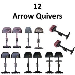 12 x Arrow Quivers