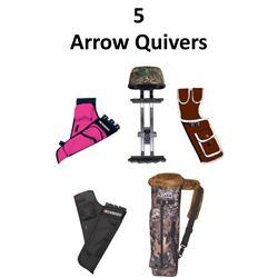 5 x Arrow Quivers