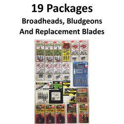 19 x Broadheads & 2 Bludgeons