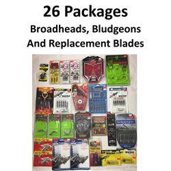 25 x Broadheads/Repl/Practice & 1 Bludgeon