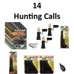 14 x Hunting Calls & 1 Lanyard