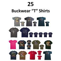 26 x Buck Wear T-Shirts