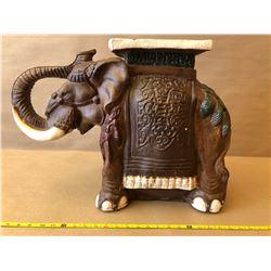 CERAMIC ELEPHANT SIDE TABLE