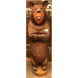 CARVED BROWN BEAR - APPROX 3' +