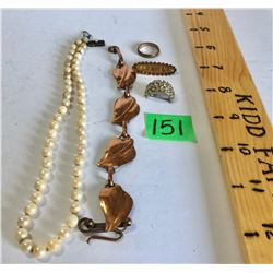 GR OF 5 MISC JEWELRY ITEMS