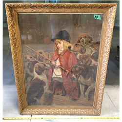 GILT FRAMED PRINT - THE YOUNG HUNTER