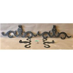ANTIQUE HAND FORGED DOOR HINGES