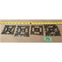 ANTIQUE HAND FORGED TIN DOOR HARDWARE
