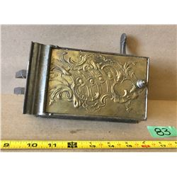 WROUGHT IRON & BRASS ANTIQUE DOOR LOCK