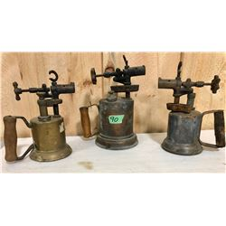 3 X ANTIQUE TORCHES