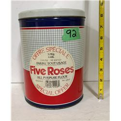 FIVE ROSES FLOUR CANISTER