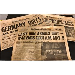 GR OF 3 MONTREAL WAR TIME NEWSPAPERS - 1945