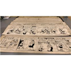 QTY OF ARTISTS STORY BOARDS FOR A COMIC STRIP