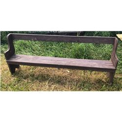 ANTIQUE PAINTED 7' MEETING BENCH
