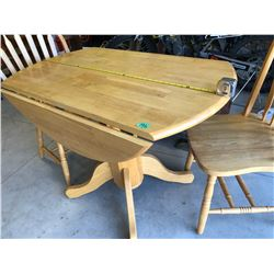 """42"""" ROUND DROP LEAF TABLE WITH 2 X CHAIRS"""