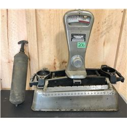 GR OF 2, BRASS EXTINGUISHER & SS SCALE