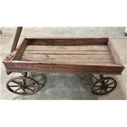 AUTO WHEEL COASTER - CHILD'S WOODEN WAGON