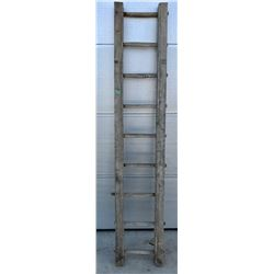 "ANTIQUE 7.5"" WOODEN LADDER"