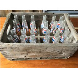 VINTAGE PEPSI CRATE WITH BOTTLES