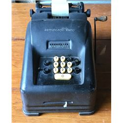 VINTAGE REMINGTON RAND ADDING MACHINE WITH PAPER TAPE