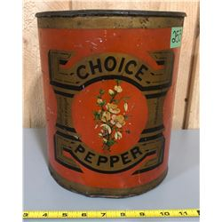 CANADA MILLS CHOICE PEPPER TIN - MONTREAL