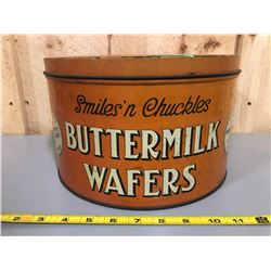 SMILES 'N CHUCKLES BUTTERMILK WAFERS TIN - KITCHENER