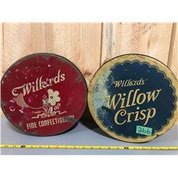 2 X WILLARDS' TINS - BISCUIT & CONFECTIONERY - TORONTO