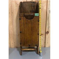 ANTIQUE PINE GARDEN WALL BOX