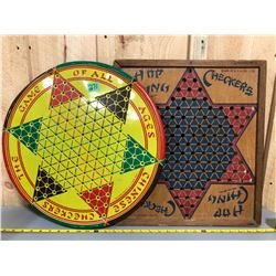 2 X VINTAGE CHINESE CHECKERS GAMES